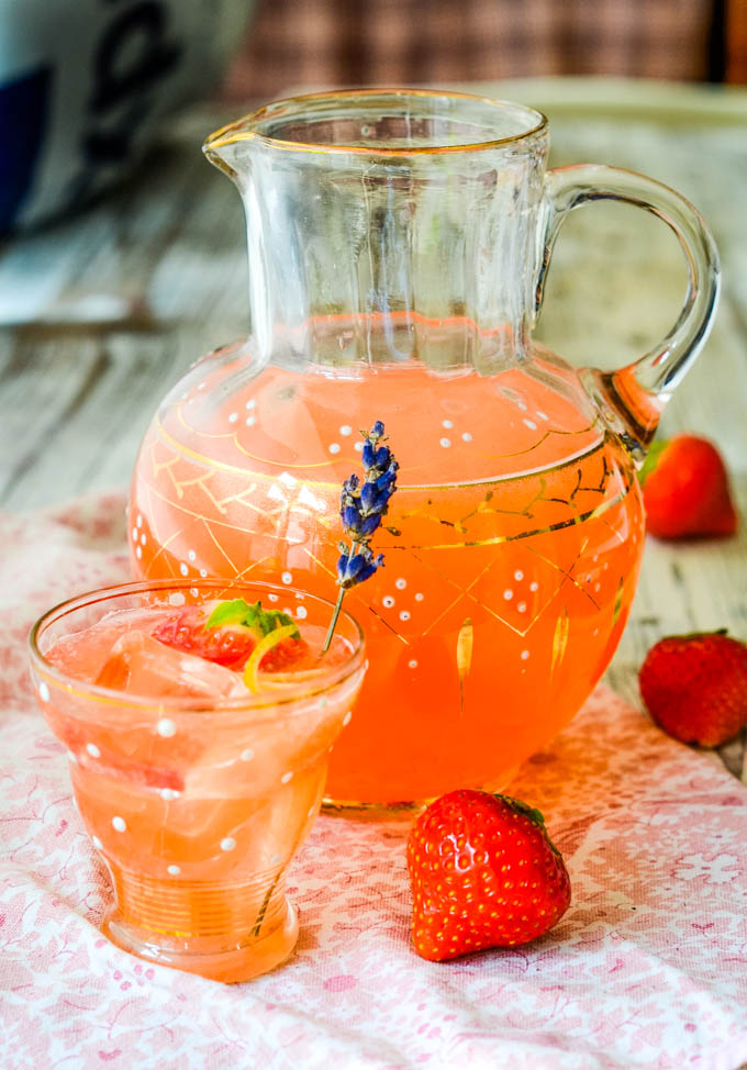strawberry and lavender water by larderlove