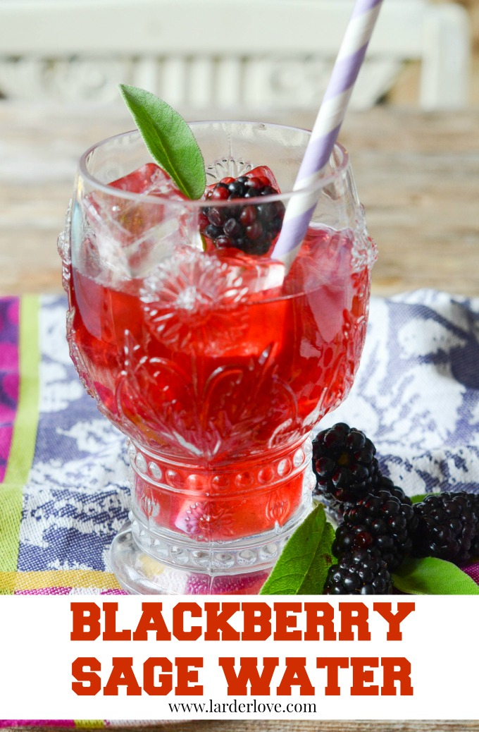 blackberry sage water by larderlove
