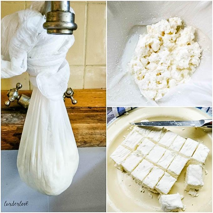 making feta cheese step by step