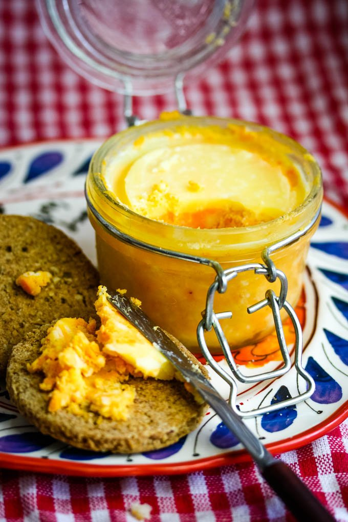 traditional British potted cheese