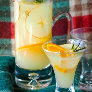 scotch punch with full jug and glass