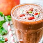 healthy beetroot and apple smoothie