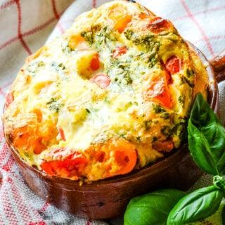 tomato and cheese clafoutis