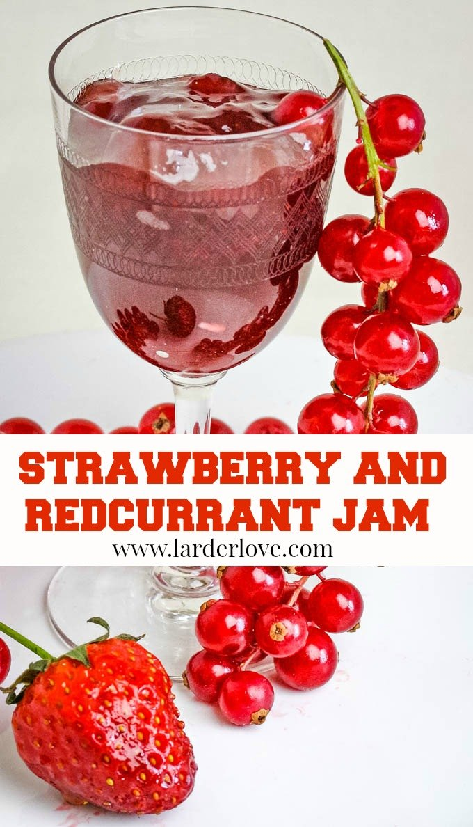 this is a super easy strawberry and redcurrant jam recipe. The true taste of summer sunshine, perfect on toast, scones and in a sponge cake too.