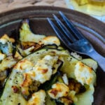 grilled courgettes/zucchini with honey and feta