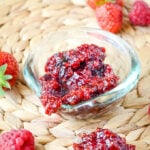 strawberry and raspberry relish by larderlove