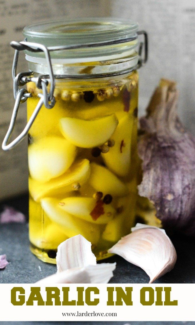 garlic in oil by larderlove