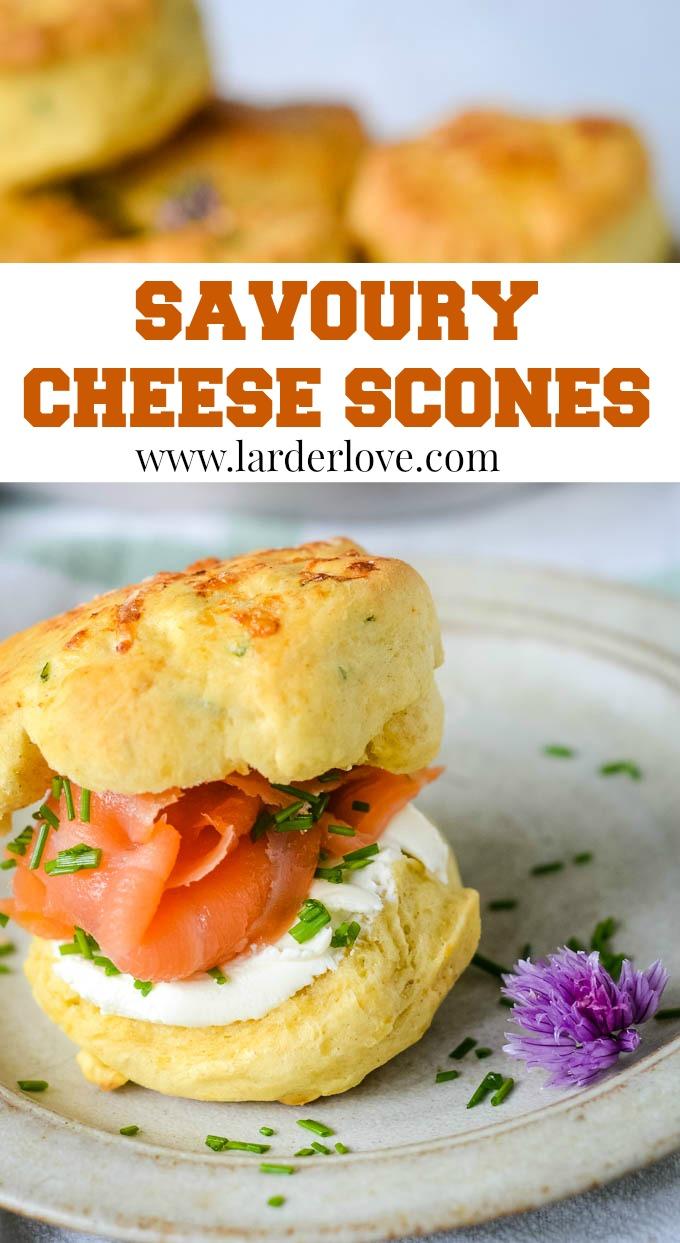 savoury cheese scones pin image