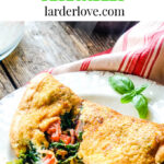souffle omelette with mediterranean vegetables pin image