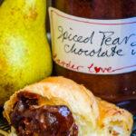 spiced pear and chocolate jam