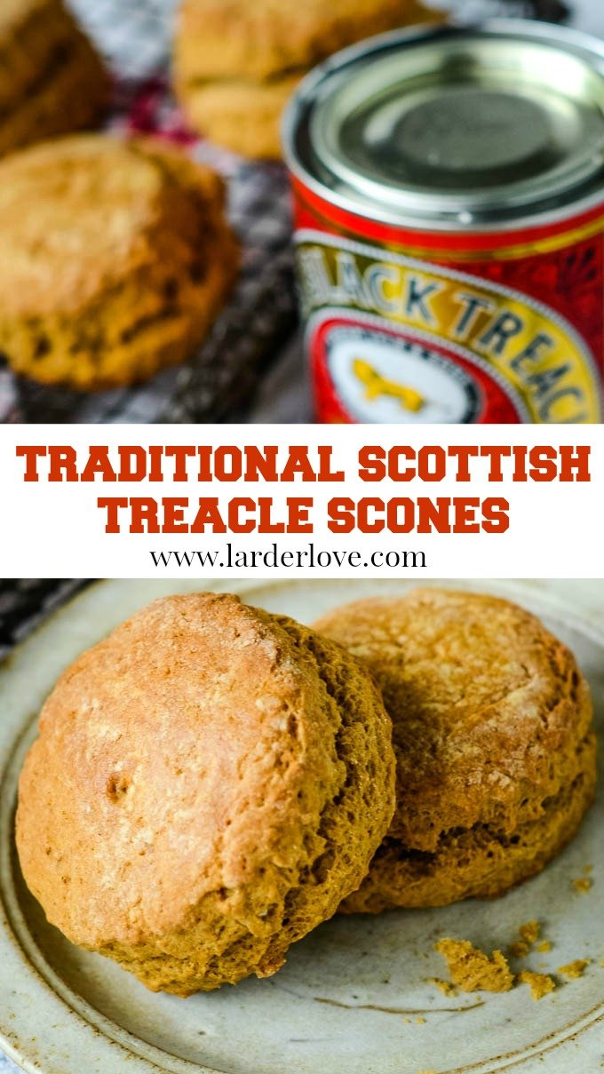 Traditional Scottish teacle scones pin image