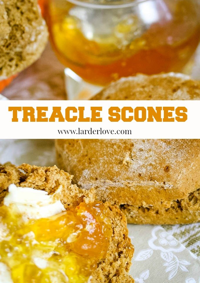 A super easy recipe for traditional Scottish Treacle Scones. The perfect sweet treat with your favourite cuppa. By Larder Love