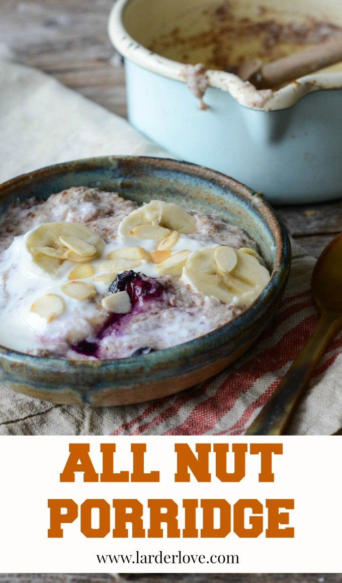 This super easy All Nut Porridge makes the perfect healthy yet oat free start to your day. It tastes great and keeps you fuller for longer too.