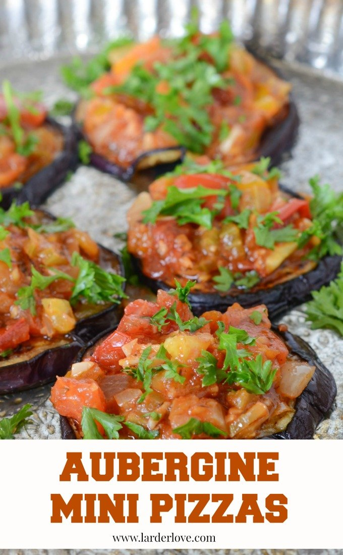 aubergine mini pizzas by larderlove
