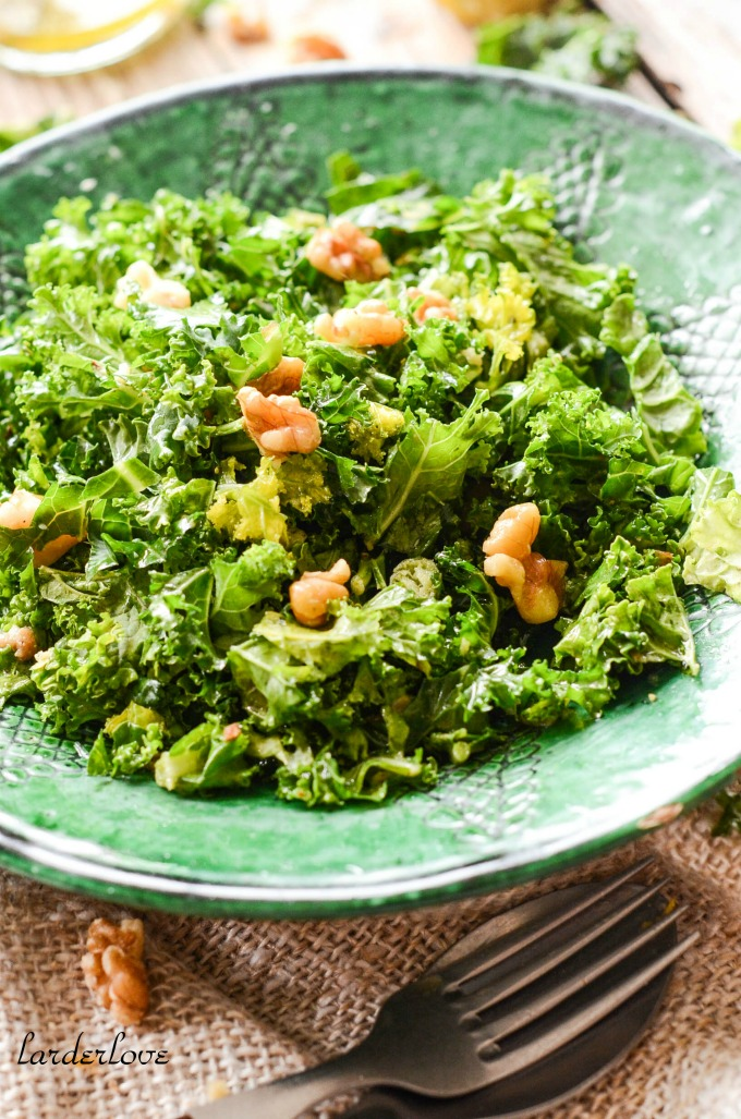kale and walnut salad larder love