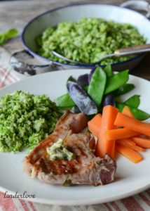 lamb chops with broccoli rice