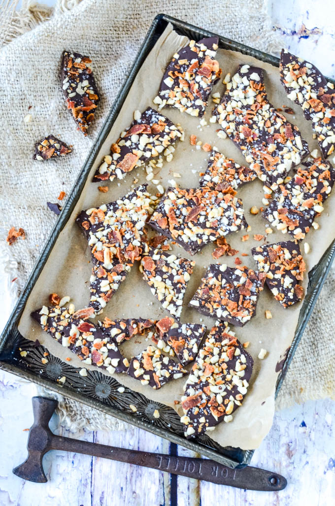 bacon bark in tray