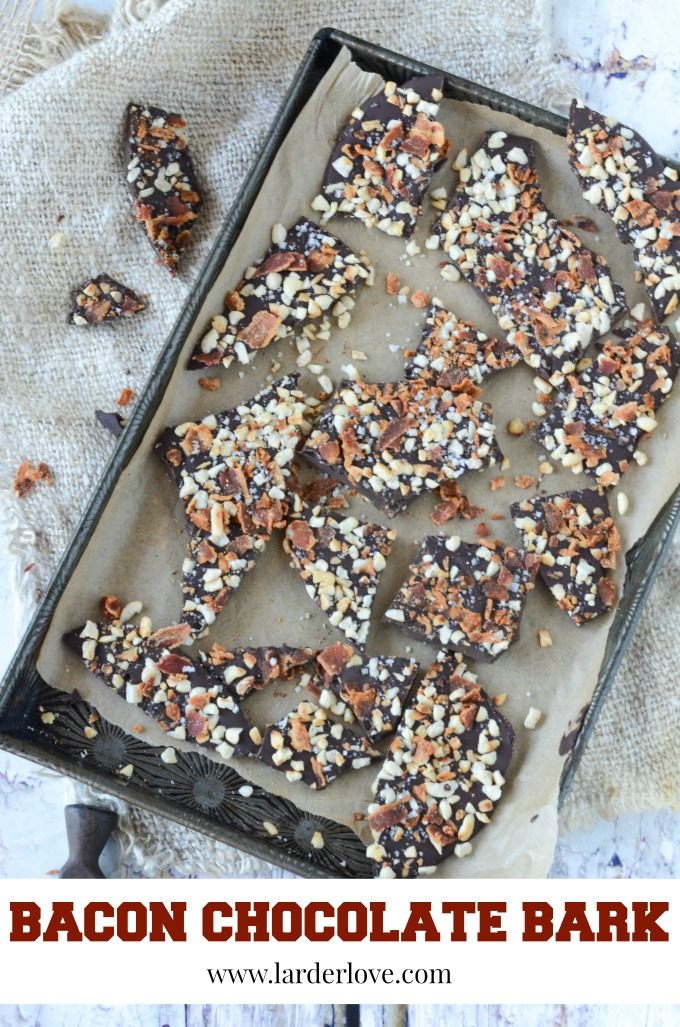 bacon chocolate bark is super easy to make, packed with amazing flavours and makes the perfect foodie gift by larderlove