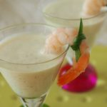 chilled prawn and cucumber soup sips by larderlove