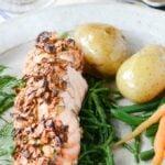 oat crusted salmon pin image