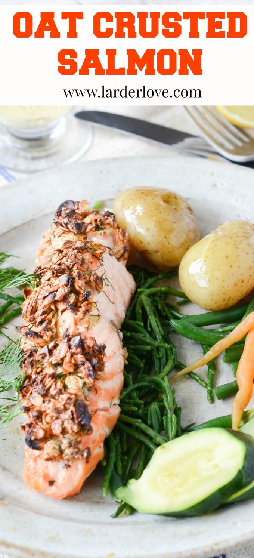 oat crusted salmon by larderlove