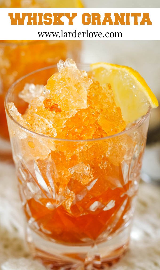 whisky granita pin image