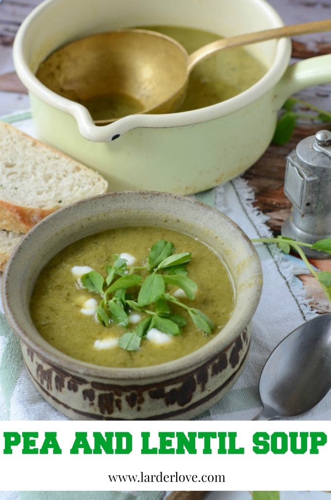 pea and lentil soup by larderlove