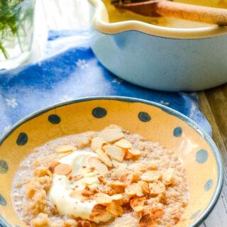 quinoa porridge by larderlove.com
