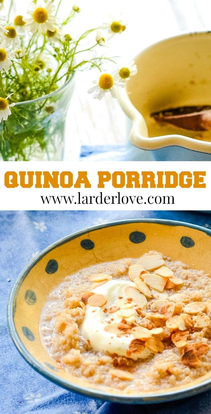quinoa porridge pin image
