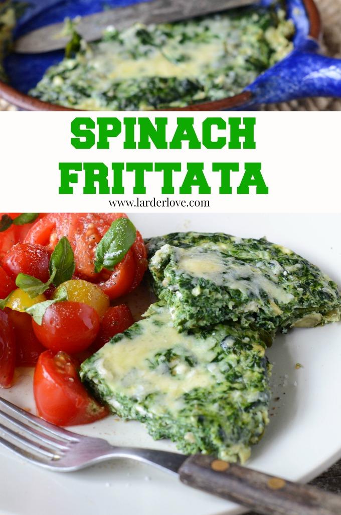 spinach frittata by larderlove