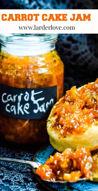 super easy carrot cake jam pin image