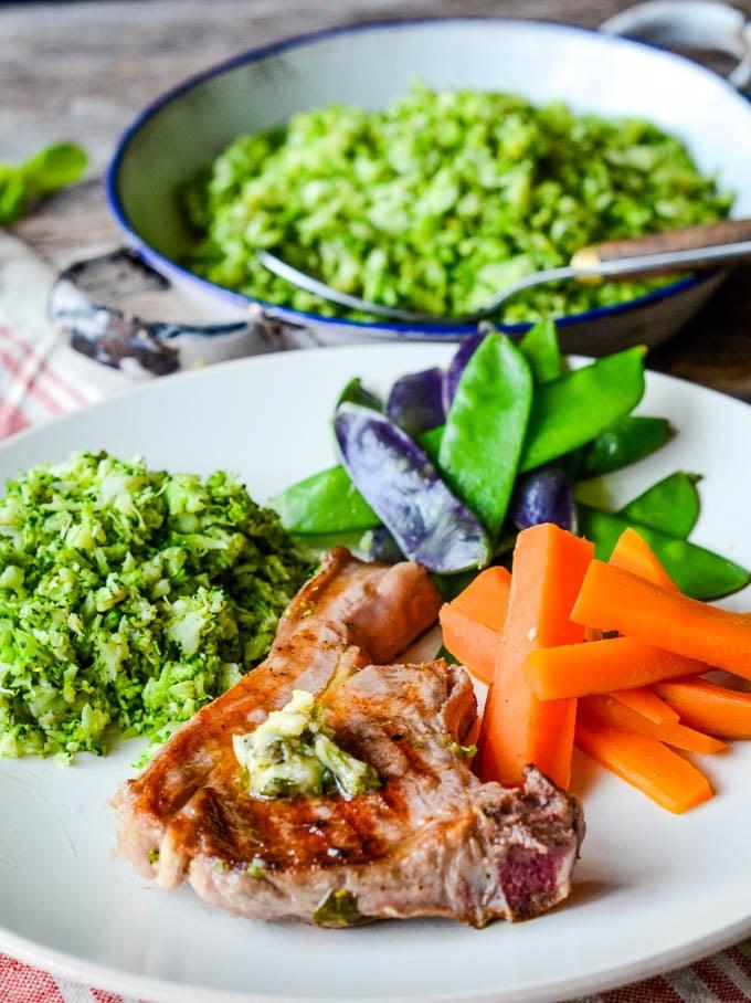 lamb chops with broccoli rice