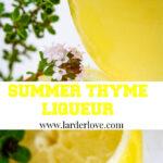 lemon and thyme liqueur