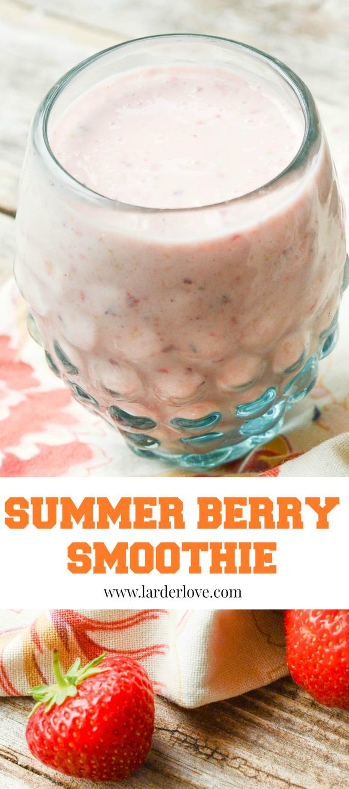 summer berry smoothie by larderlove