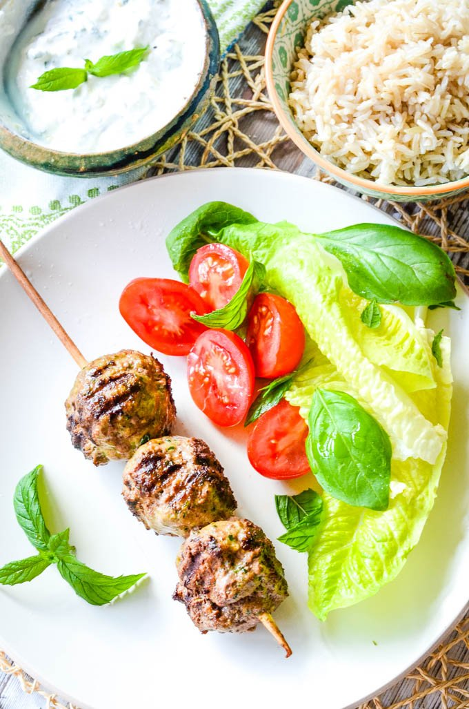quick and easy lamb koftas with lemon and mint yogurt sauce