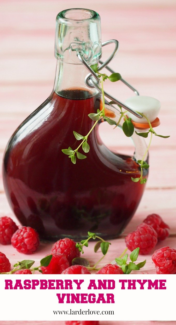 raspberry and thyme vinegar by larderlove