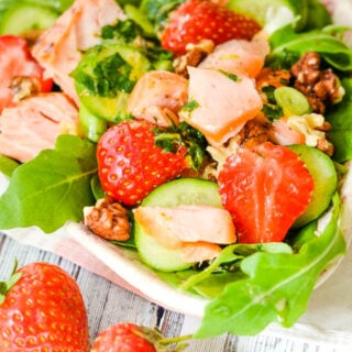 strawberry and salmon salad by larderlove