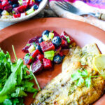 sardines with beetroot and blueberry salsa