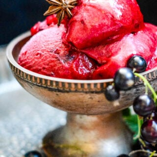 spiced blackcurrant sorbet