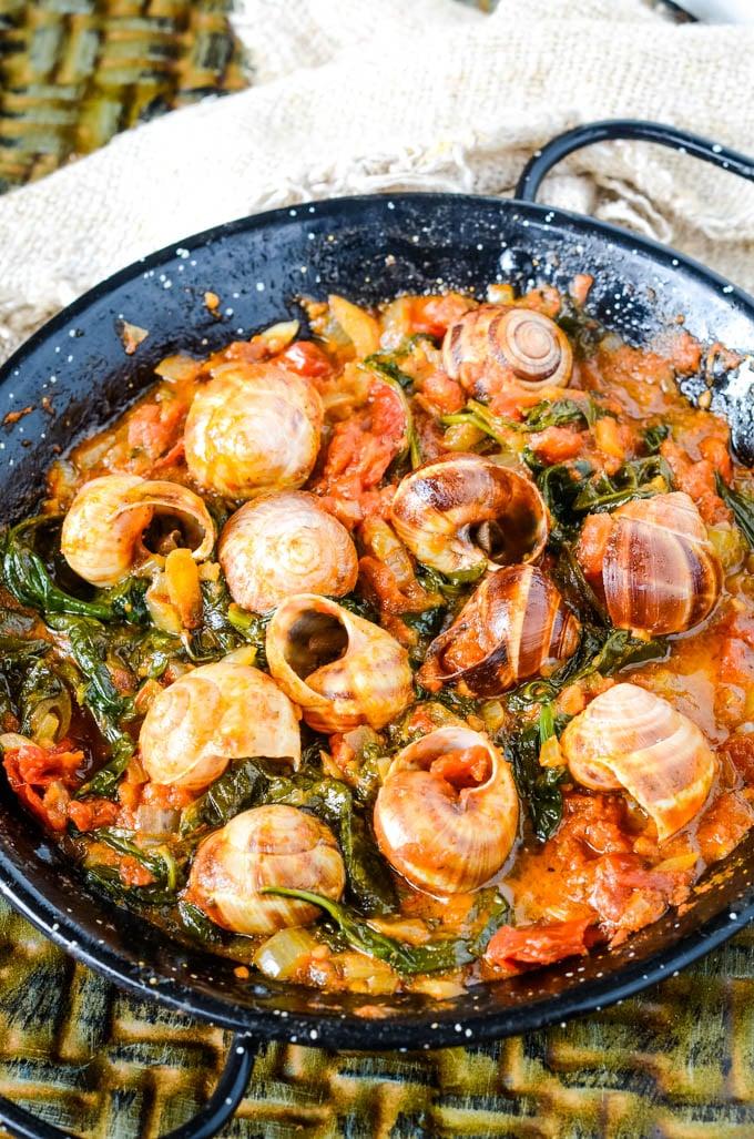 Greek snails in tomato sauce
