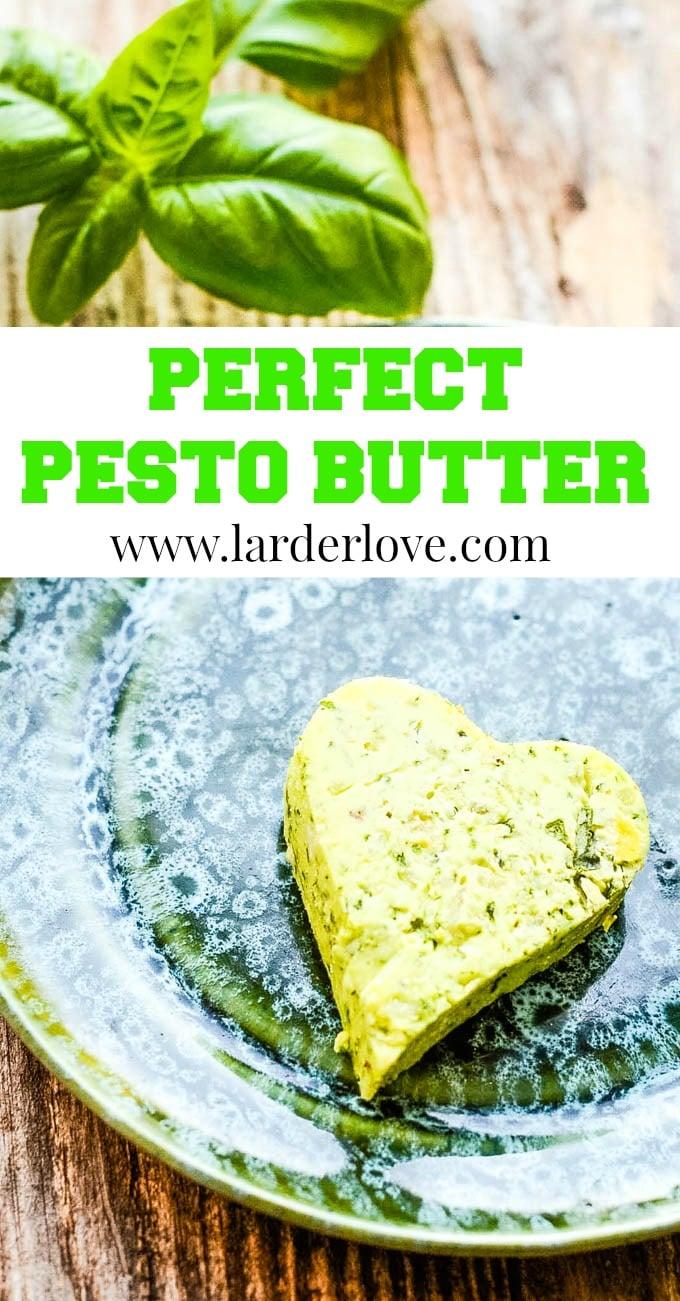 perfect pesto butter pin image