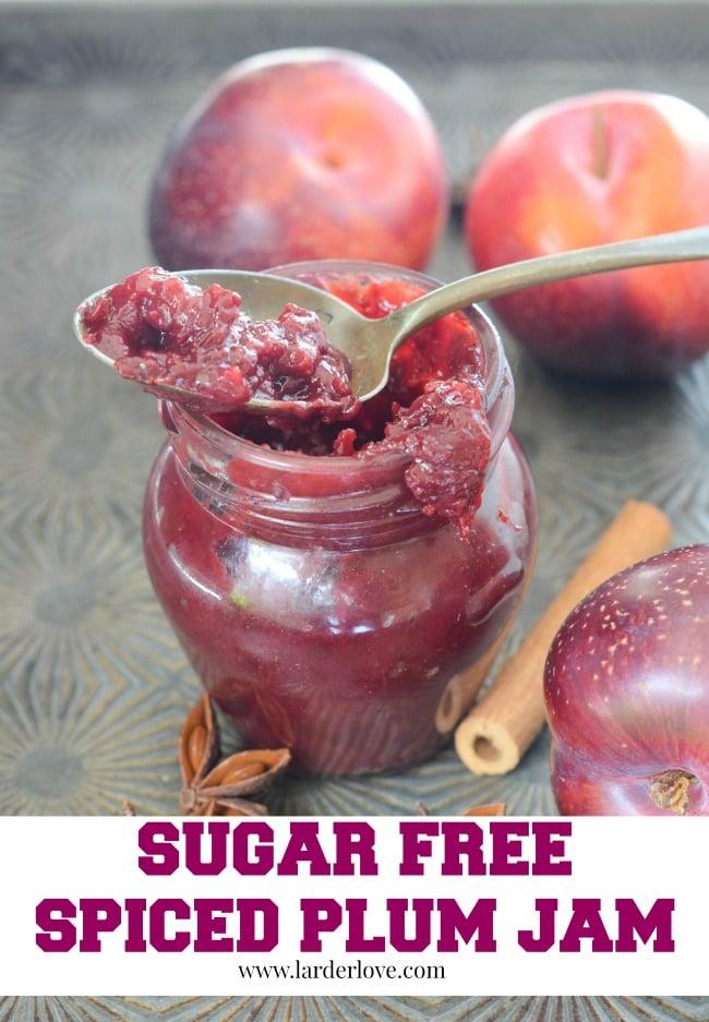 sugar free spiced plum jam ny larderlove