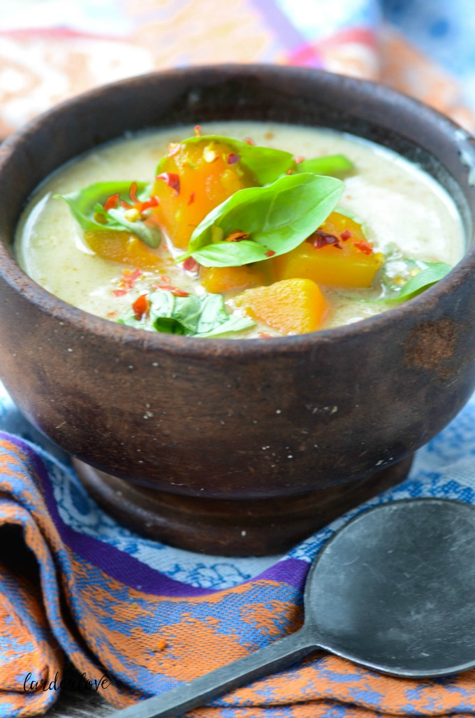 pumpkin and coconut soup by larder love