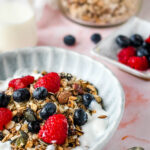 healthy homemade granola pin image