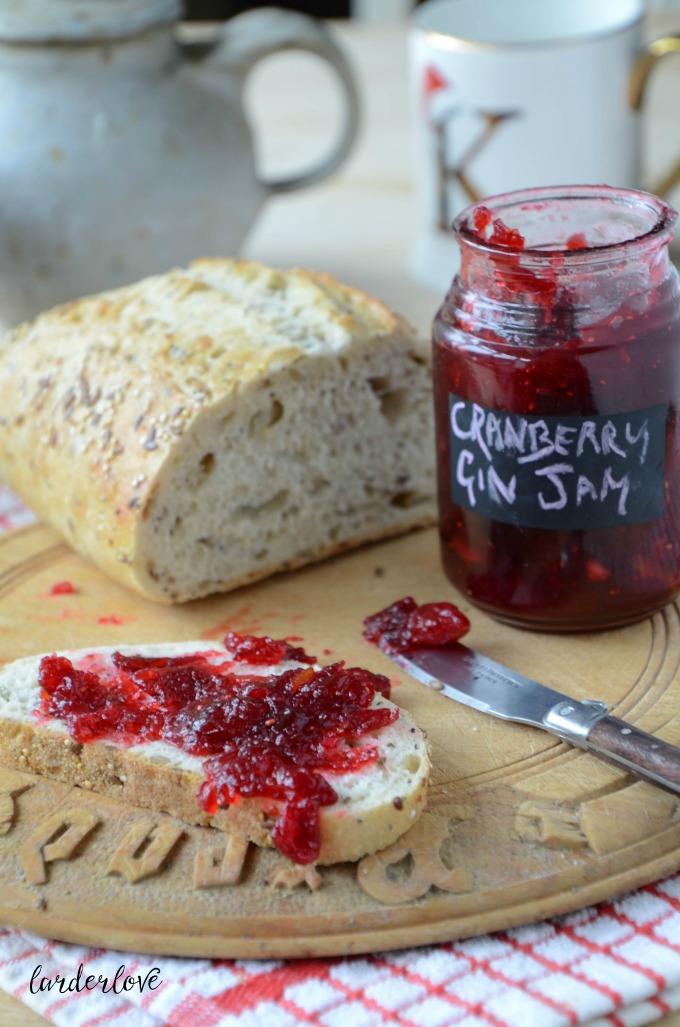 cranberry gin jam by larderlove