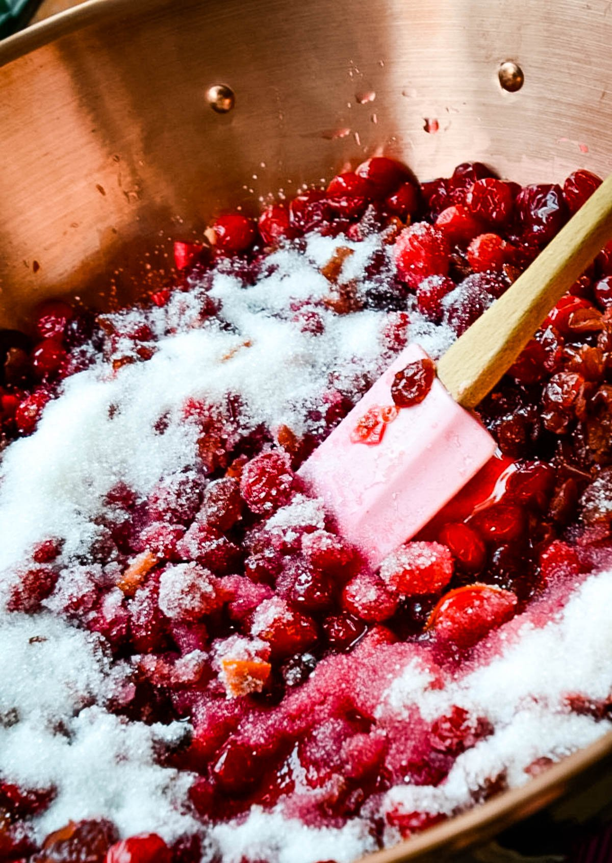 cooking cranberries and sugar
