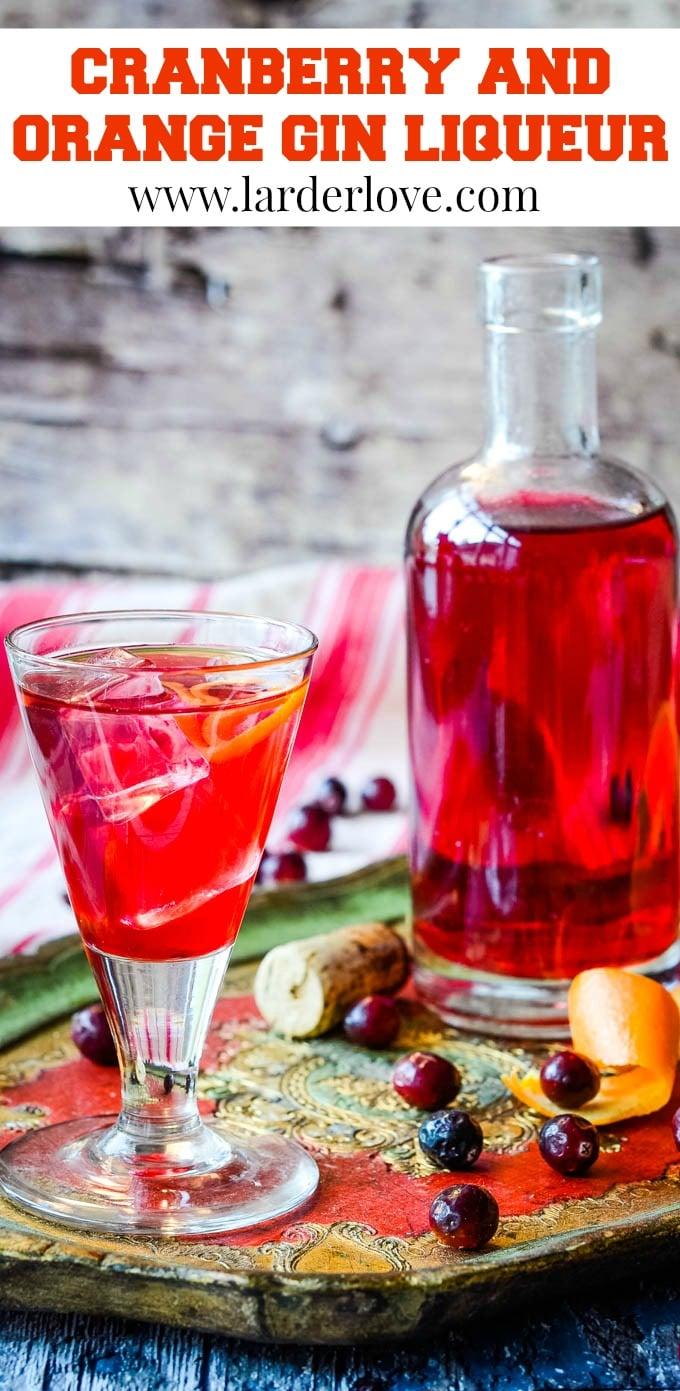 cranberry gin liqueur pin image