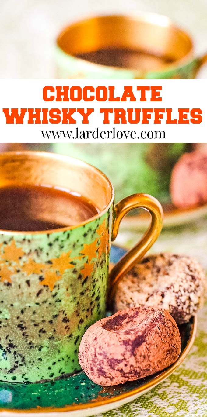 whisky chocolate trufffles pin image