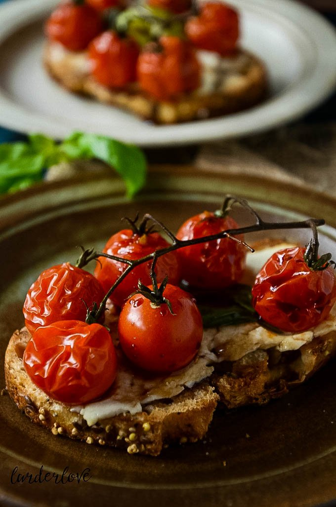 cherry tomato bruschetta by larderlove