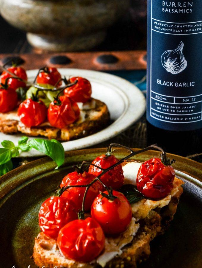 cherry tomato bruschetta with balsamic by larderlove
